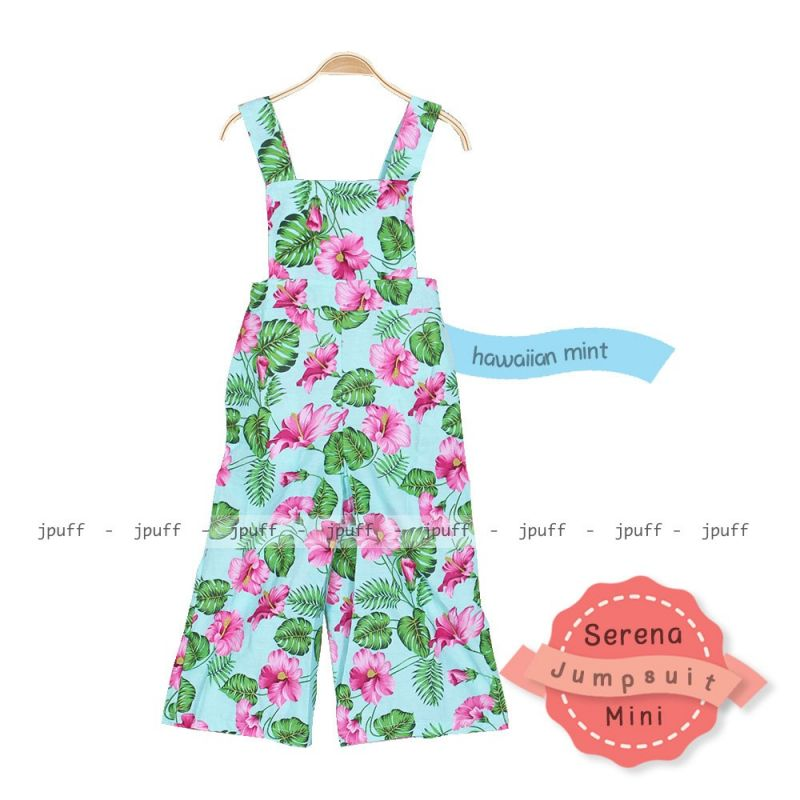 9000 Serena Jumpsies Hawaian | Jumpsuit Anak Couple
