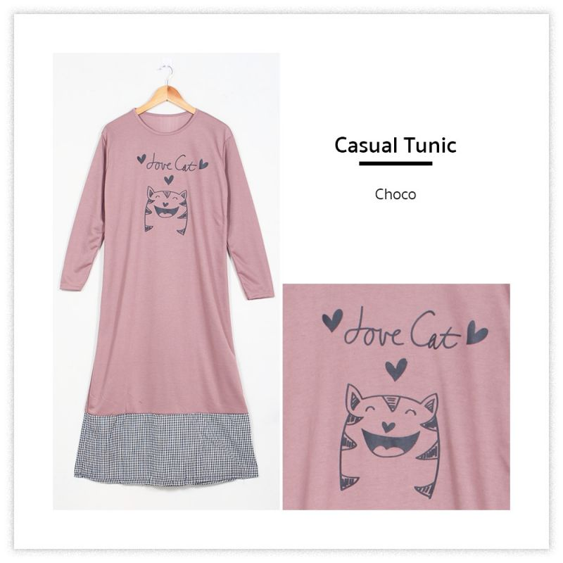 9209 - Casual Tunic - Longdress Maxi Dress Kaos