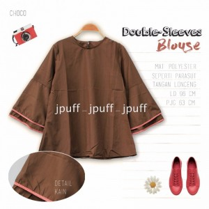 9103 - Double Sleeve Blouse Atasan