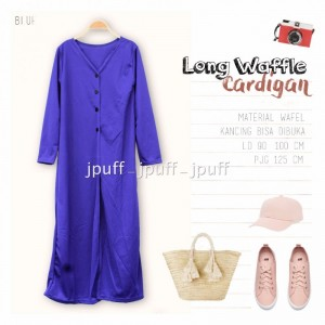 9105 - Long Cardigan Waffle Outer