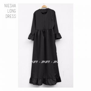 Niesha Long Dress | Gamis Modern | Maxi Dress