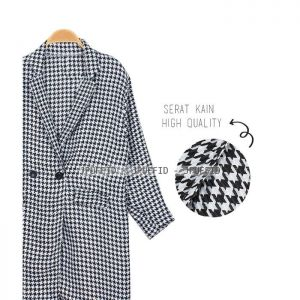 Houndstooth Coat Blazer Outer