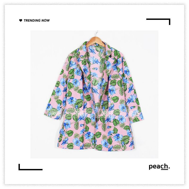 Cotton Blazer - Tropical Hawaian Series