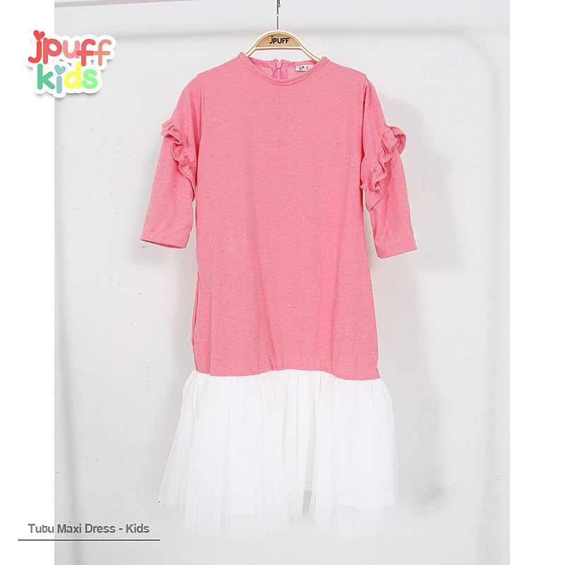 Tutu Jenna Longdress (kids) - Bintik Salem Tua