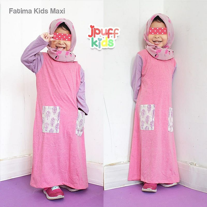 fatimah dress saku daun