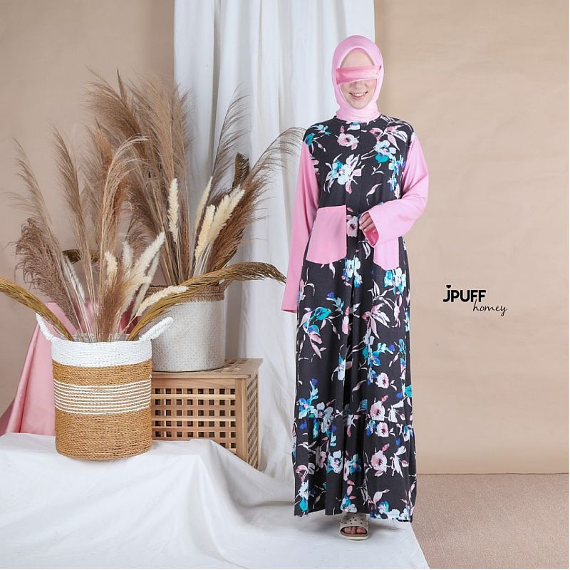 HomeyDress Series #1 - Zahra Dress (Tgn pjg - kombinasi tangan)