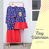 Gamis Dress Tutu Doll Sequin - Navy Watermelon