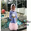 Gamis Dress Tutu Sequin - Dottie Blue Unicorn
